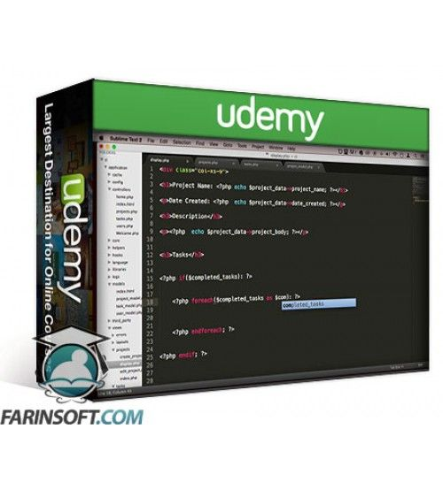 آموزش Udemy PHP MVC Framework CodeIgniter Tutorial for Beginners Project