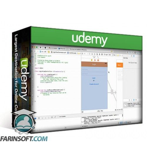 آموزش Udemy Create a Live Update chat app with Swift IOS8 and Xcode