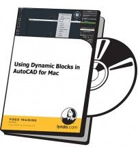 دانلود آموزش Lynda Using Dynamic Blocks in AutoCAD for Mac