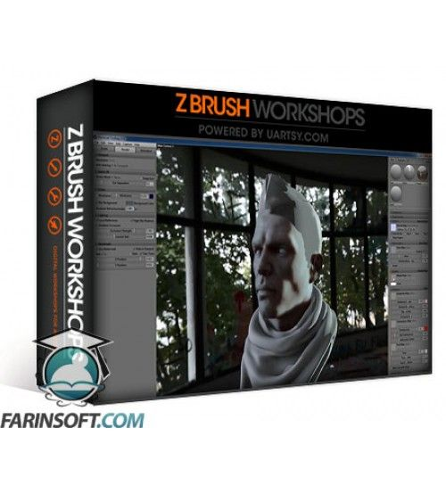 دانلود آموزش ZBrush Workshops Texturing A Head In ZBrush And Rendering In Marmoset