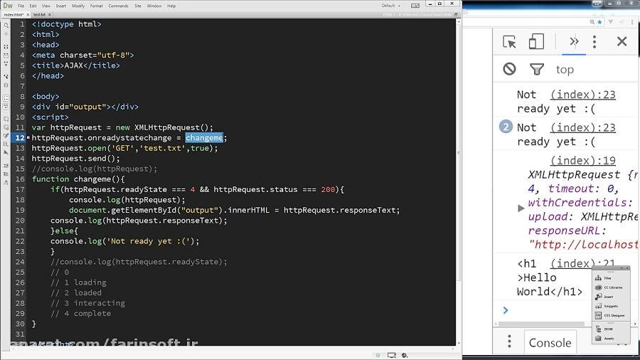 آموزش Udemy Learn JavaScript AJAX in 1 hour
