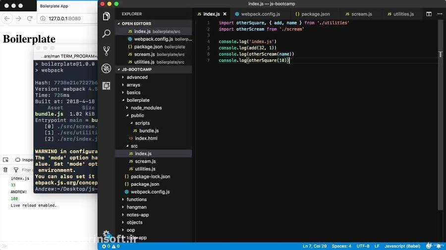 دانلود Udemy The Modern JavaScript Bootcamp (2018)